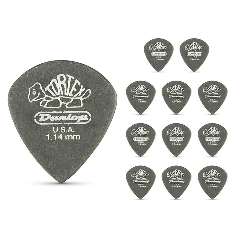 DunlopTortex Pitch Black Jazz Guitar Picks 1 Dozen1.14 mm