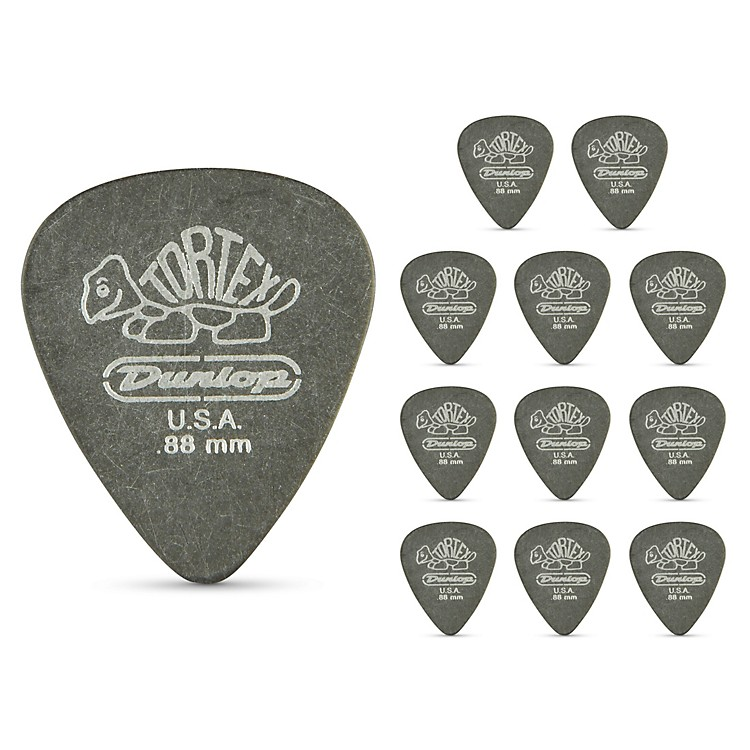 Dunlop Tortex Pitch Black Standard Guitar Picks 1 Dozen .88 mm