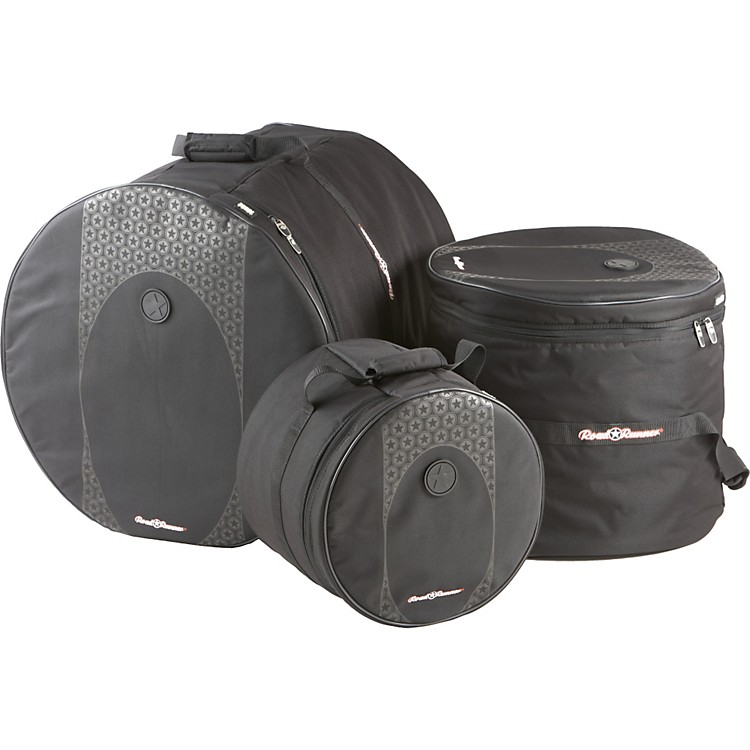 Road Runner Touring 3-Piece Drum Gig Bag Set Black 10x12, 16x16 & 18x22