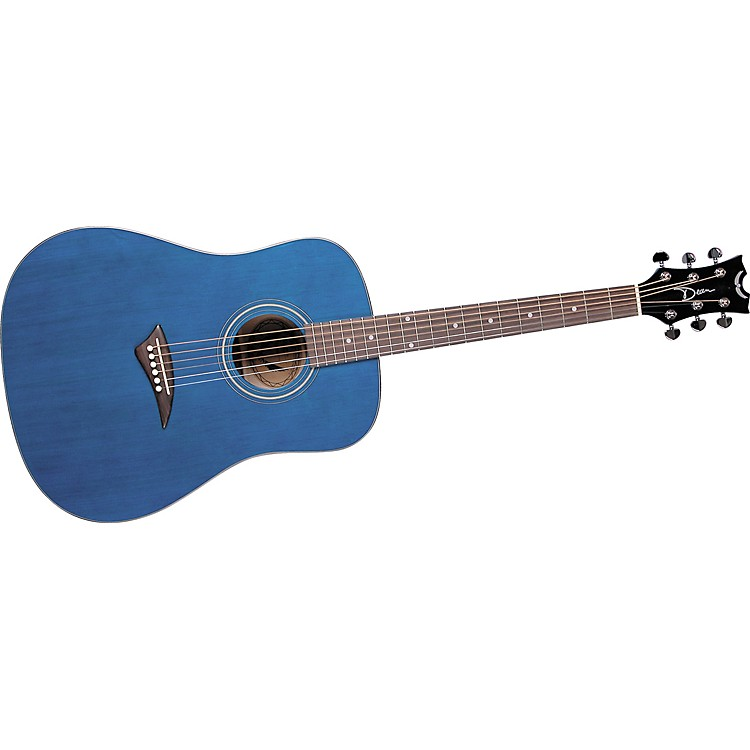 Dean Tradition AK48 Dreadnought Acoustic Guitar Transparent Blue