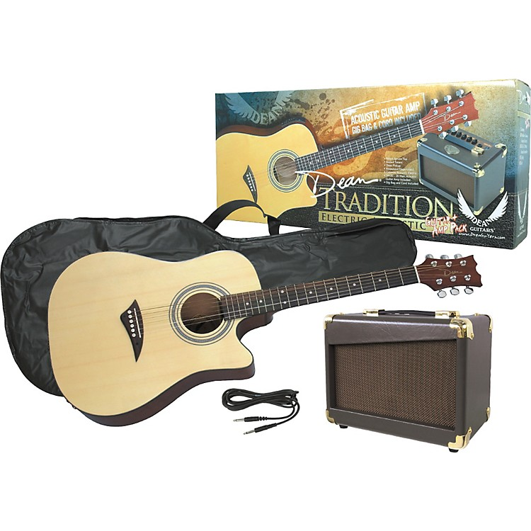 dean tradition acoustic electric guitar and amp pack music123. Black Bedroom Furniture Sets. Home Design Ideas