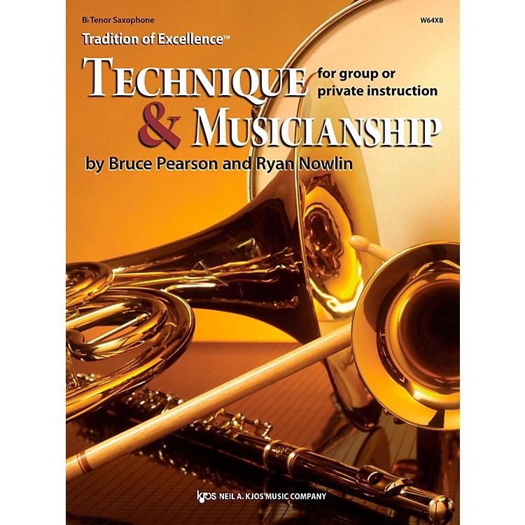 KJOSTradition of Excellence: Technique & Musicianship Tenor Sax