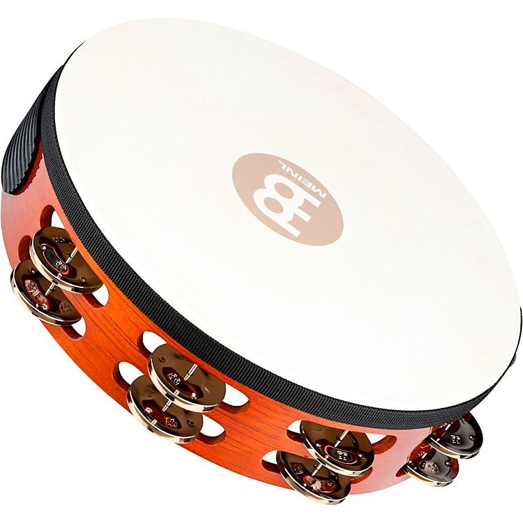 MeinlTraditional Goat-Skin Wood Tambourine Two RowsSteel Jingles