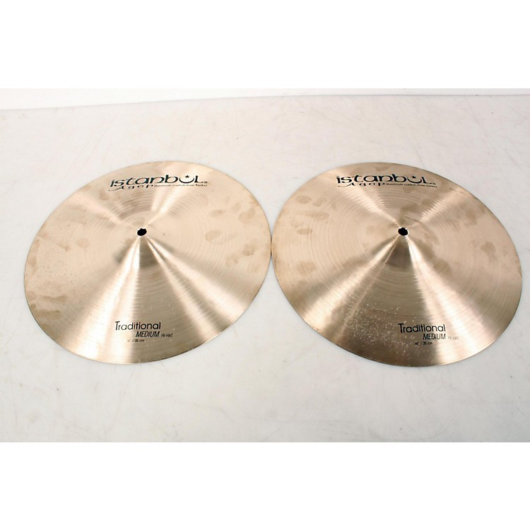 Istanbul Agop Traditional Medium Hi-Hat Cymbals 14 in. 888365848648
