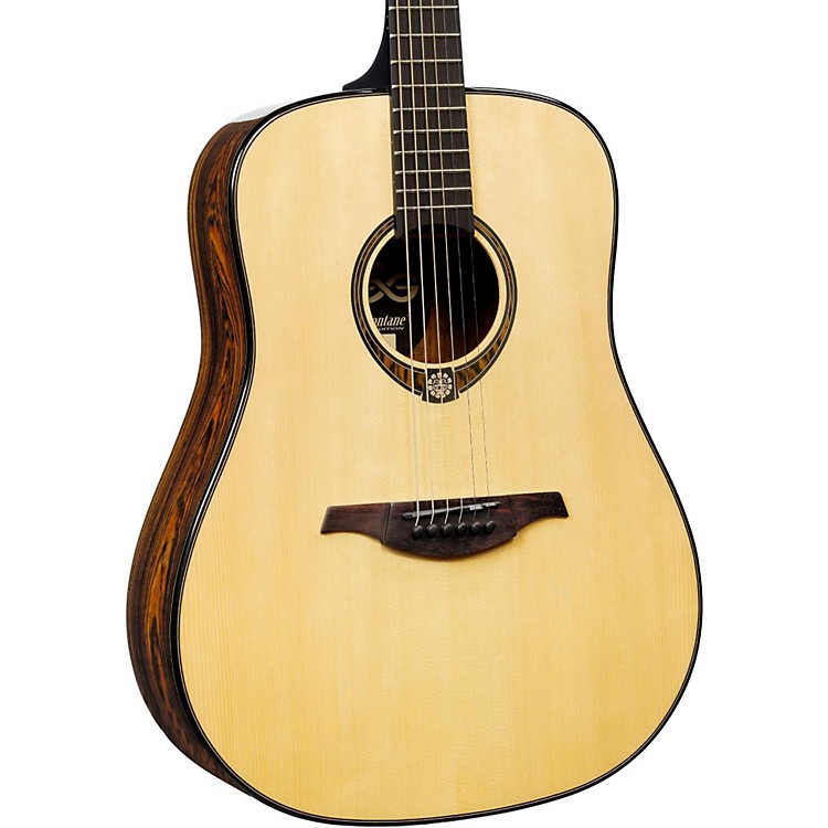 Lag Guitars Tramontane Limited Edition TSE701D Snakewood Dreadnought Acoustic Guitar Natural Snake Wood