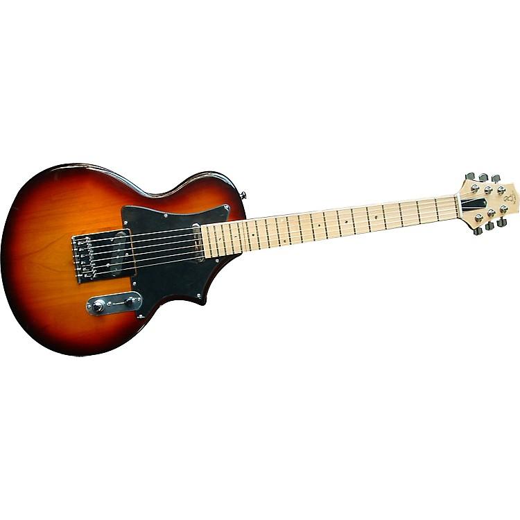 Voyage-Air GuitarTransAxe Telair VET-2 Electric Guitar with Maple FingerboardVintage Sunburst