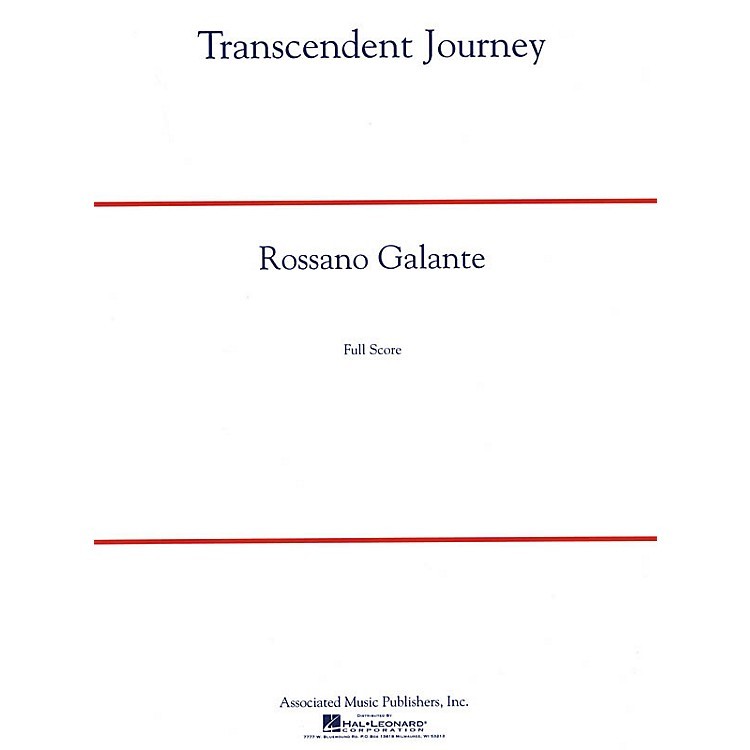 G. SchirmerTranscendent Journey Concert Band Level 5 Composed by Rossano Galante