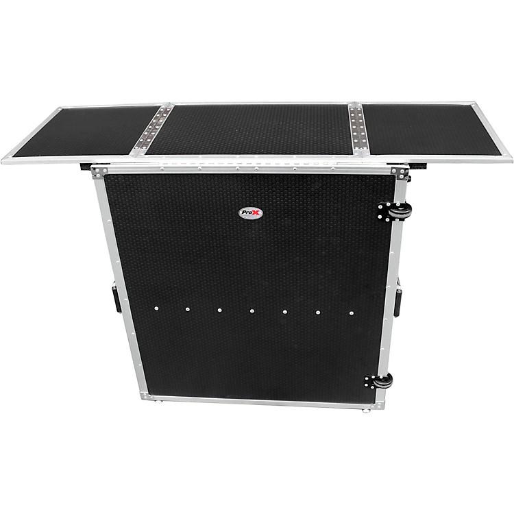 ProXTransformer Series Fold Away DJ Performance Desk Facade Black/Black with Wheels