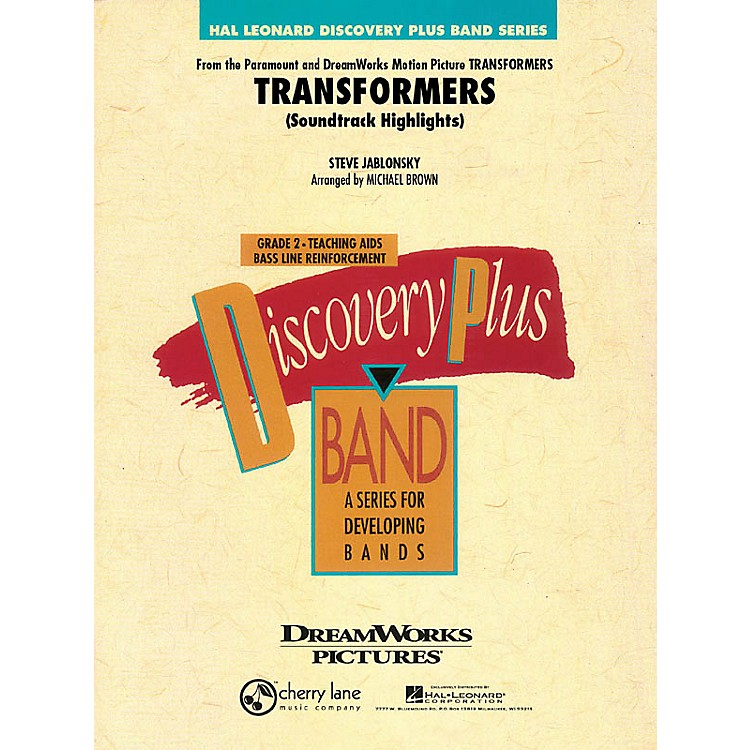 Cherry LaneTransformers Soundtrack Highlights - Discovery Plus Concert Band Series Level 2 arranged by Michael Brown
