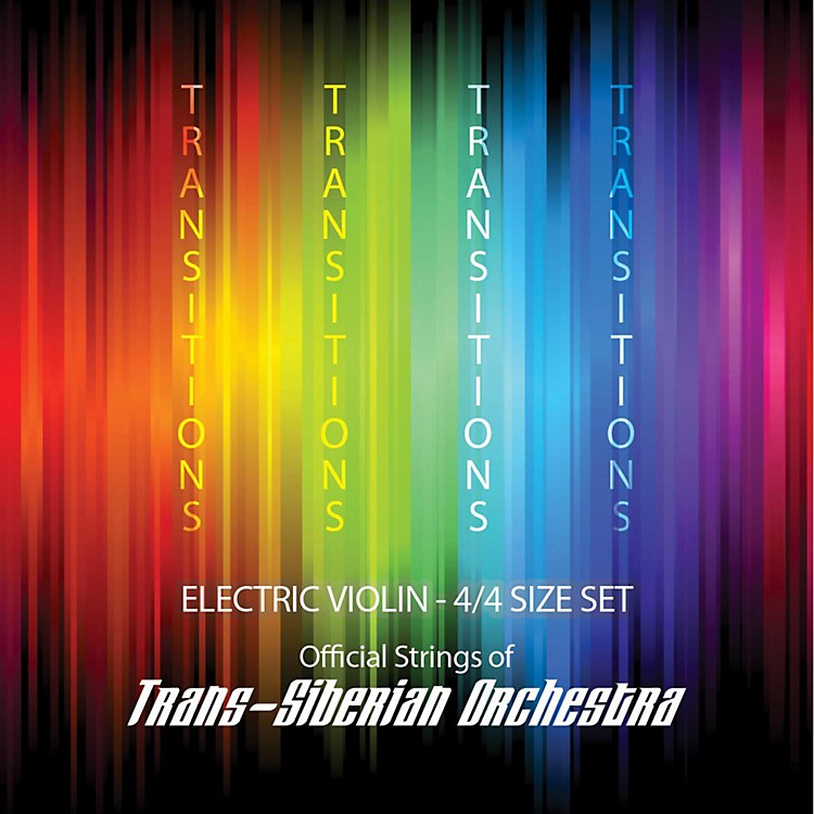 Super Sensitive Transitions Electric Violin Strings D String D 4/4 Silver
