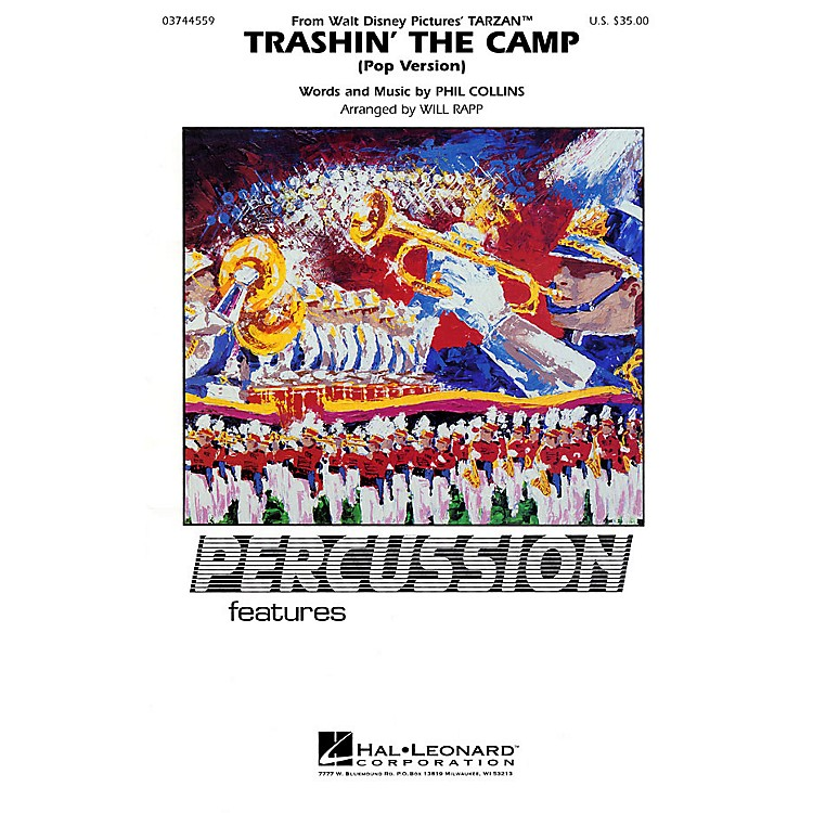 Hal LeonardTrashin' the Camp (Percussion Feature) Marching Band Level 2-3