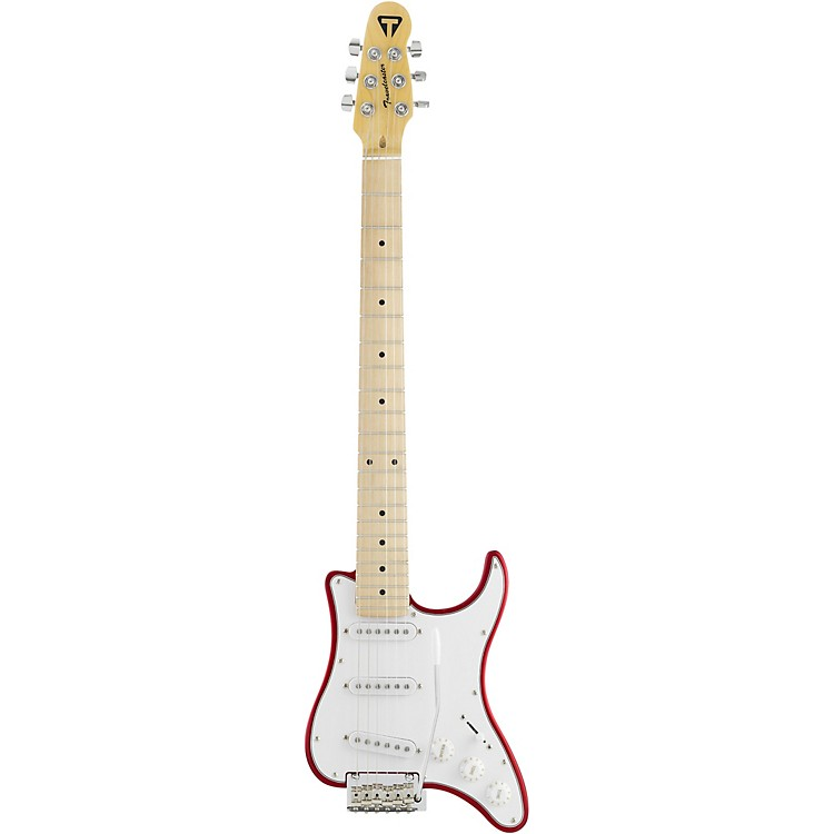 Traveler Guitar Travelcaster Deluxe Electric Travel Guitar with Gig Bag Candy Apple Red