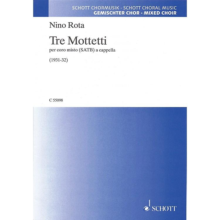 SchottTre Mottetti SATB a cappella Composed by Nino Rota