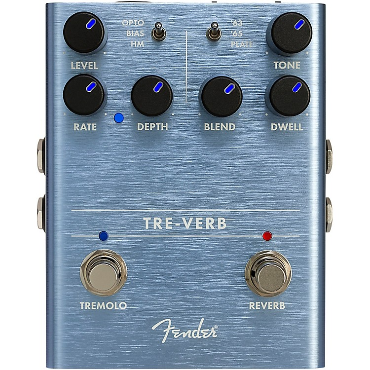 Fender Tre-Verb Digital Tremolo and Reverb Effects Pedal