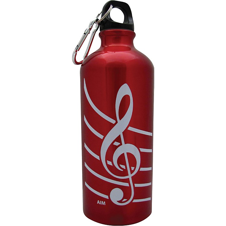 AIMTreble Clef Aluminum Bottle (Red)