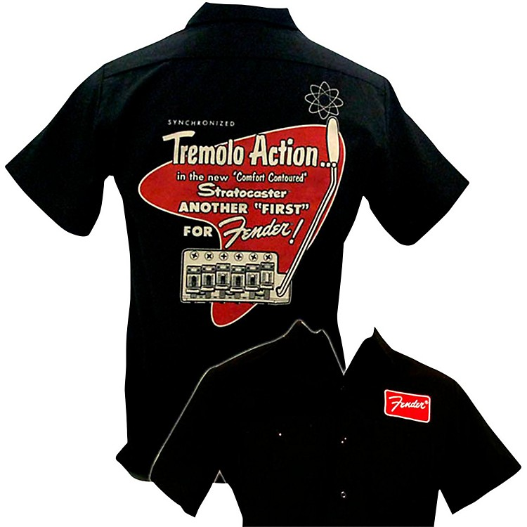 Fender Tremolo Work Shirt Black Large