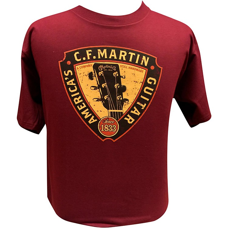 Martin Triangle Headstock T-Shirt Maroon Medium