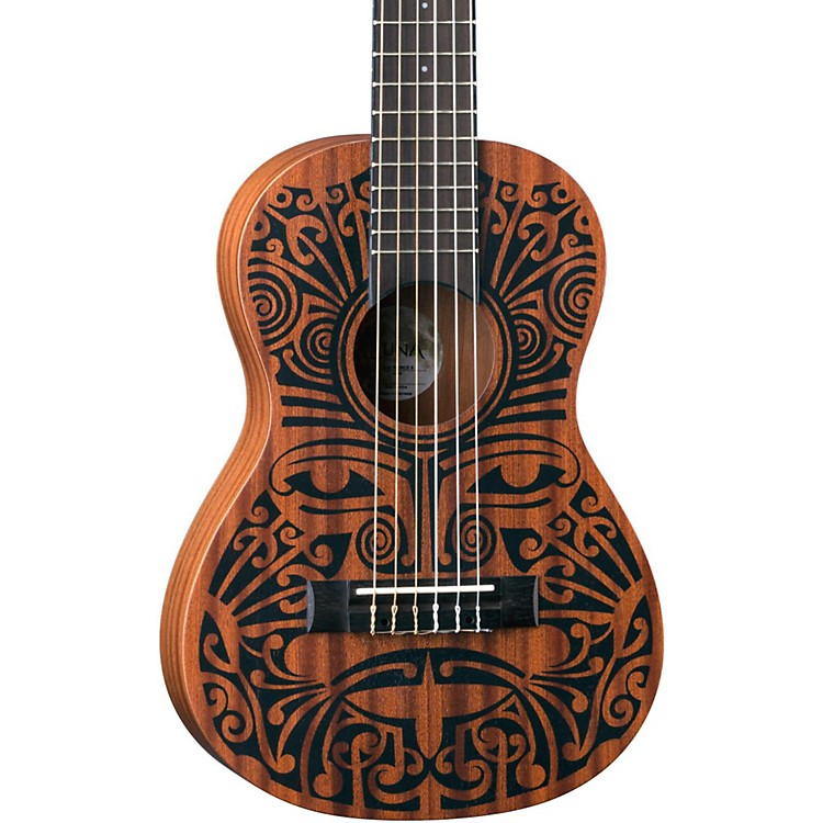 Luna Guitars Tribal 6-String Mahogany Ukulele Satin Natural