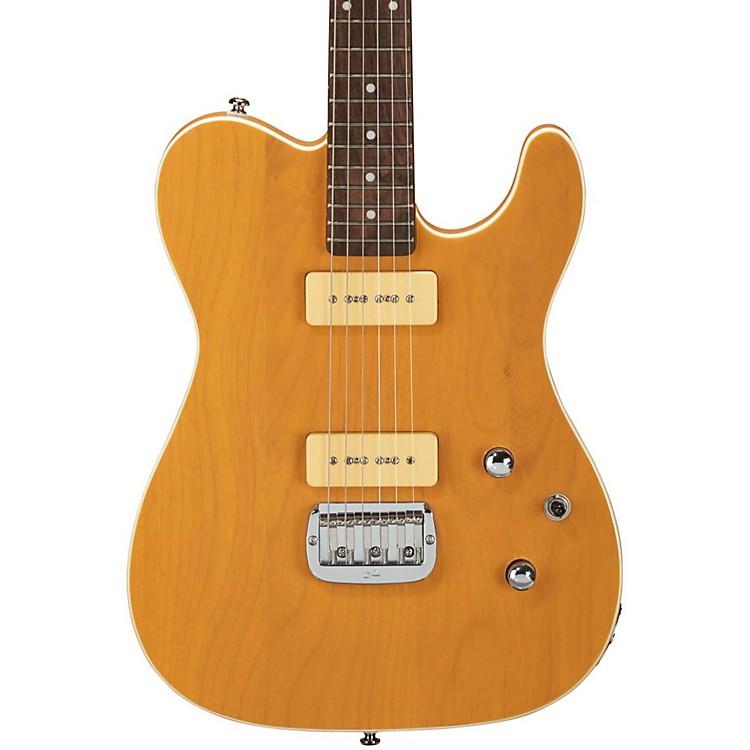 G&LTribute ASAT Deluxe Carved Top P-90 Electric GuitarOrange Cream