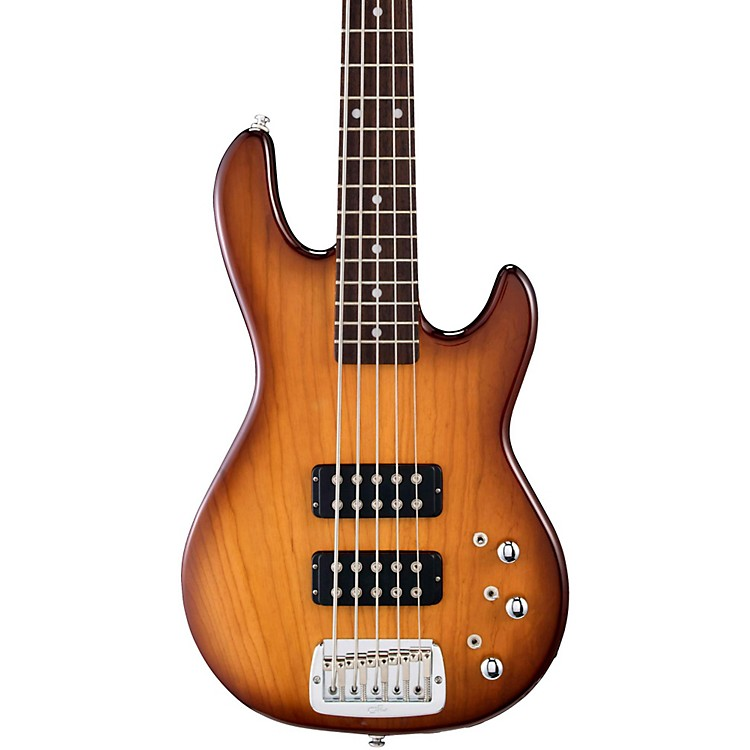 g l tribute l2500 5 string electric bass guitar tobacco sunburst rosewood fretboard music123. Black Bedroom Furniture Sets. Home Design Ideas