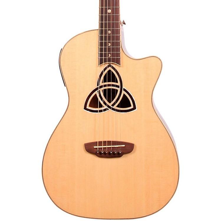 Luna GuitarsTrinity Series Cutaway Parlor Acoustic-Electric Guitar