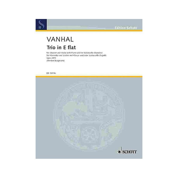 SchottTrio E Flat Major Op. 20, No. 5 Schott Series by Johann Baptist Vanhal