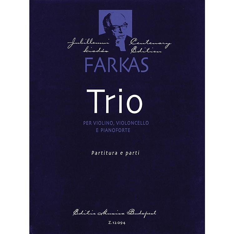Editio Musica BudapestTrio (Violin, Violoncello and Piano) EMB Series Composed by Ferenc Farkas