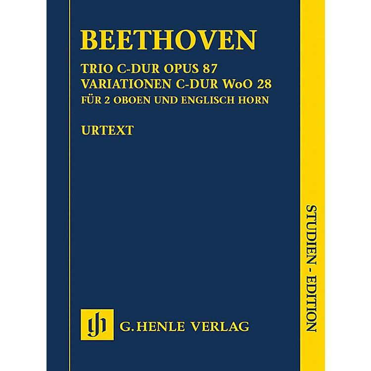 G. Henle VerlagTrio in C Major, Op. 87/Variations in C Major, WoO 28 Henle Study Scores by Beethoven Edited by Egon Voss