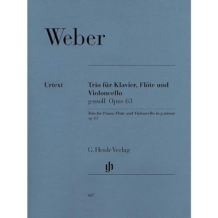 G. Henle VerlagTrio in G minor Op. 63 Henle Music Folios Series Softcover by Carl Maria von Weber