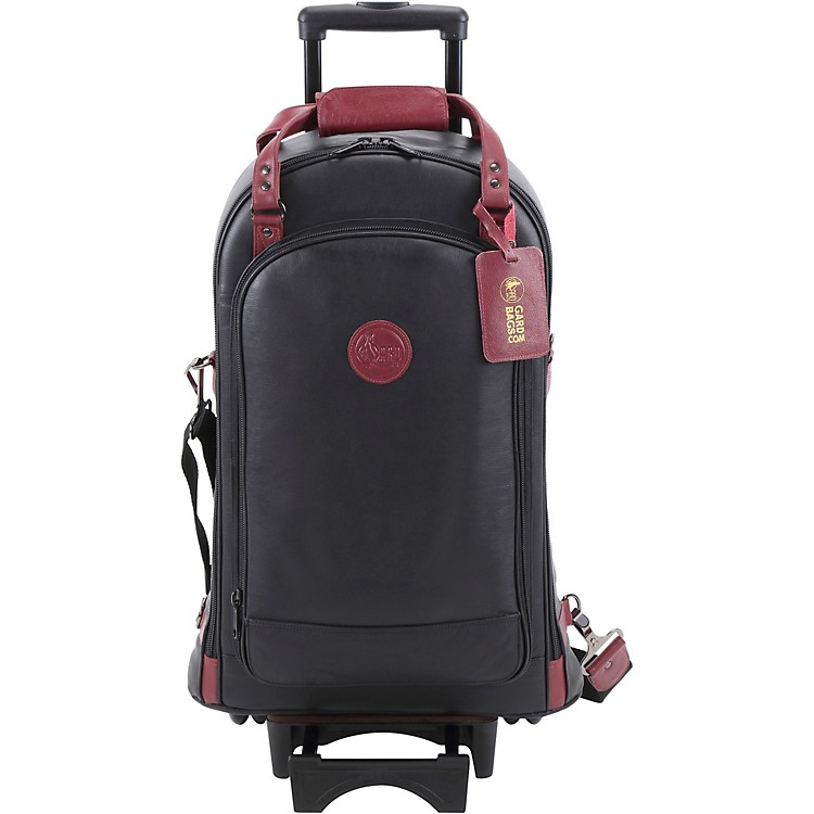 Gard Triple Trumpet Wheelie Black Leather with Burgundy Leather Trim