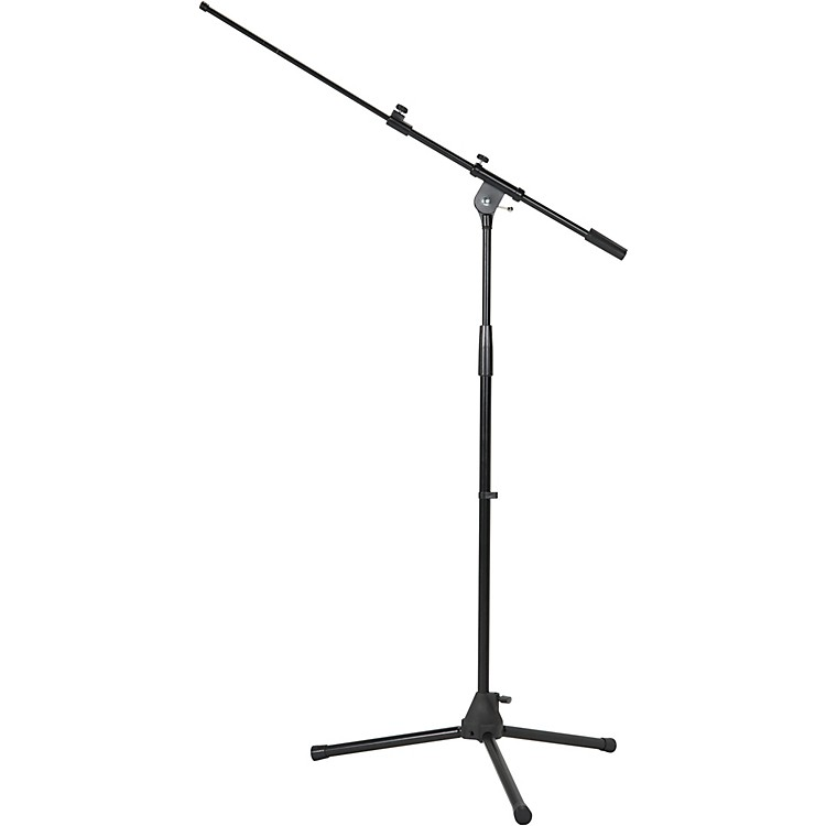 Musician's GearTripod Microphone Stand with Telescoping BoomBlack