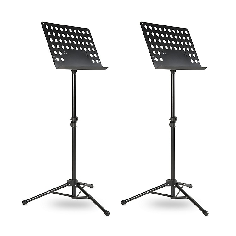 Musician's GearTripod Orchestral Music Stand Perforated Black - 2 Pack