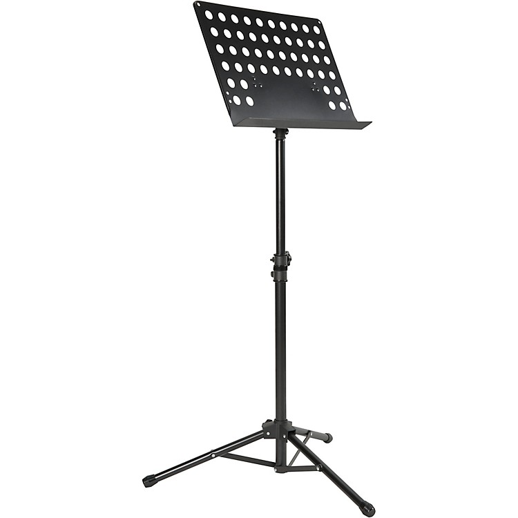 Musician's GearTripod Orchestral Music Stand PerforatedBlack
