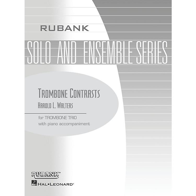 Rubank PublicationsTrombone Contrasts (Trombone Trio with Piano - Grade 2.5) Rubank Solo/Ensemble Sheet Series