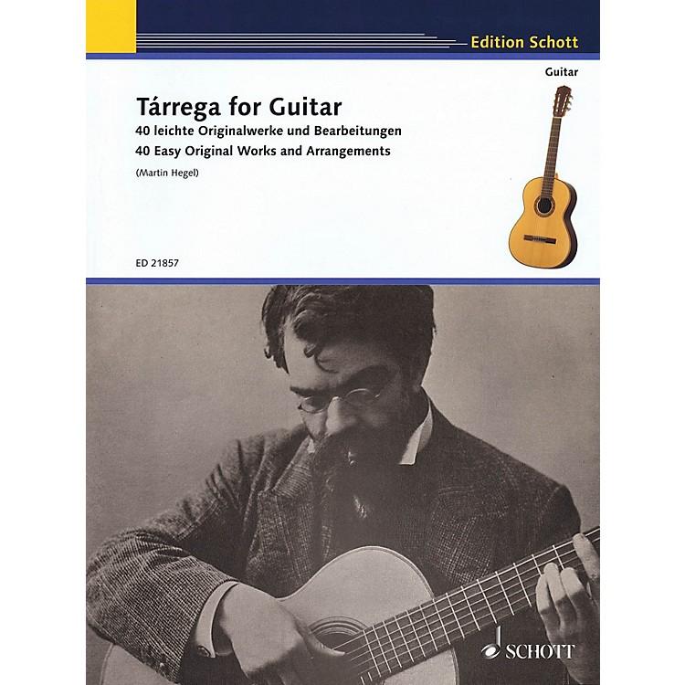 SchottTárrega for Guitar - 40 Easy Original Works and Arrangements Guitar Series Softcover