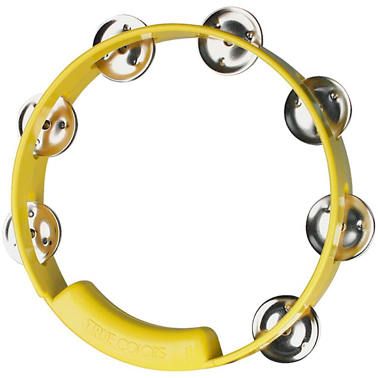 RhythmTech True Colors Tambourine Yellow 8 in.