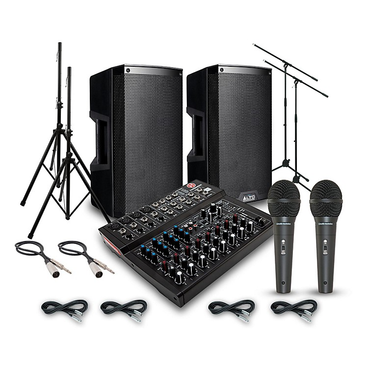 AltoTruesonic TS210 with Harbinger L1202FX PA System