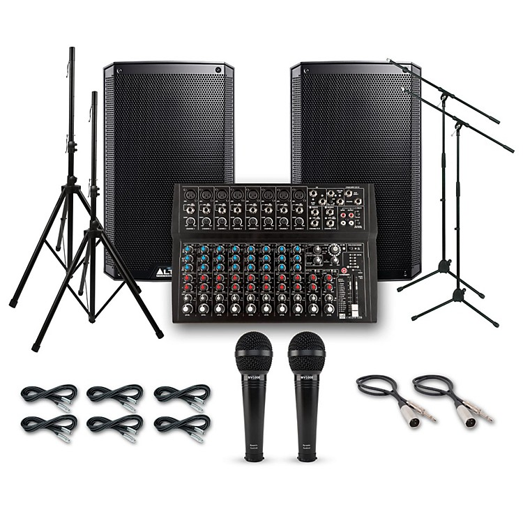 Alto Truesonic TS210 with Harbinger L1402FX PA System