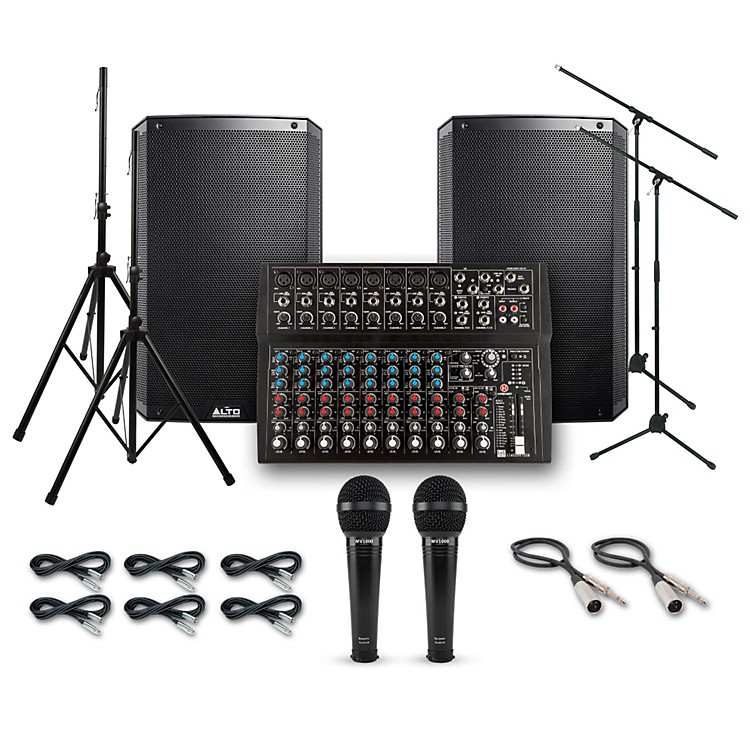 AltoTruesonic TS215 with Harbinger L1402FX PA System