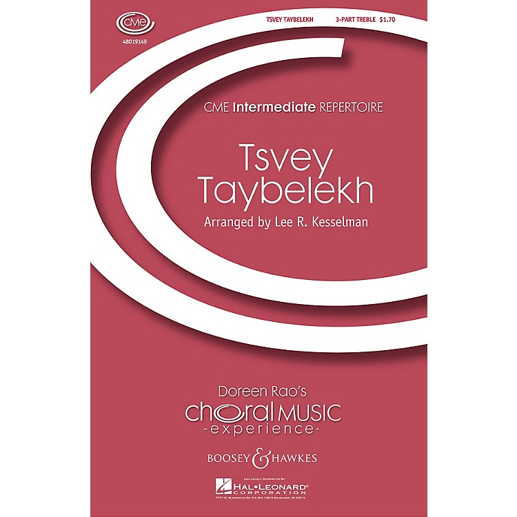 Boosey and Hawkes Tsvey Taybelekh (The Two Doves) (CME Intermediate) 3 Part Treble arranged by Lee Kesselman