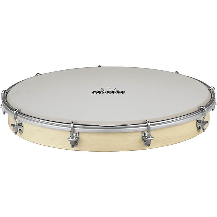 Nino Tunable Nino Hand Drum with True Feel Synthetic Head Natural 10 in.