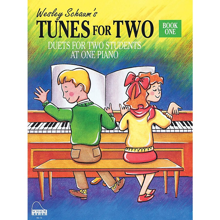 SCHAUMTunes for Two - Book 1 Educational Piano Book (Level Elem)