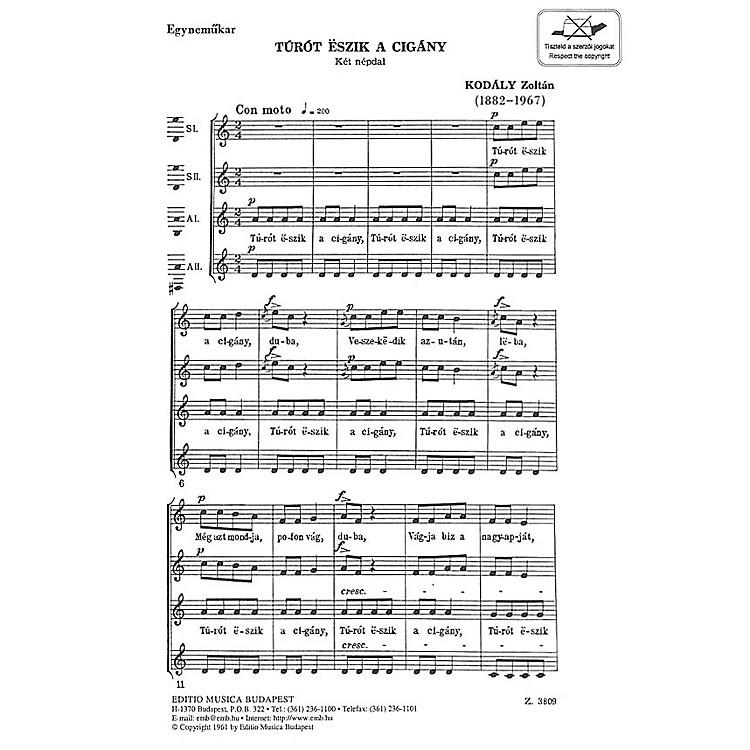 Editio Musica BudapestTurot Eszik A Cigany Composed by Zoltán Kodály