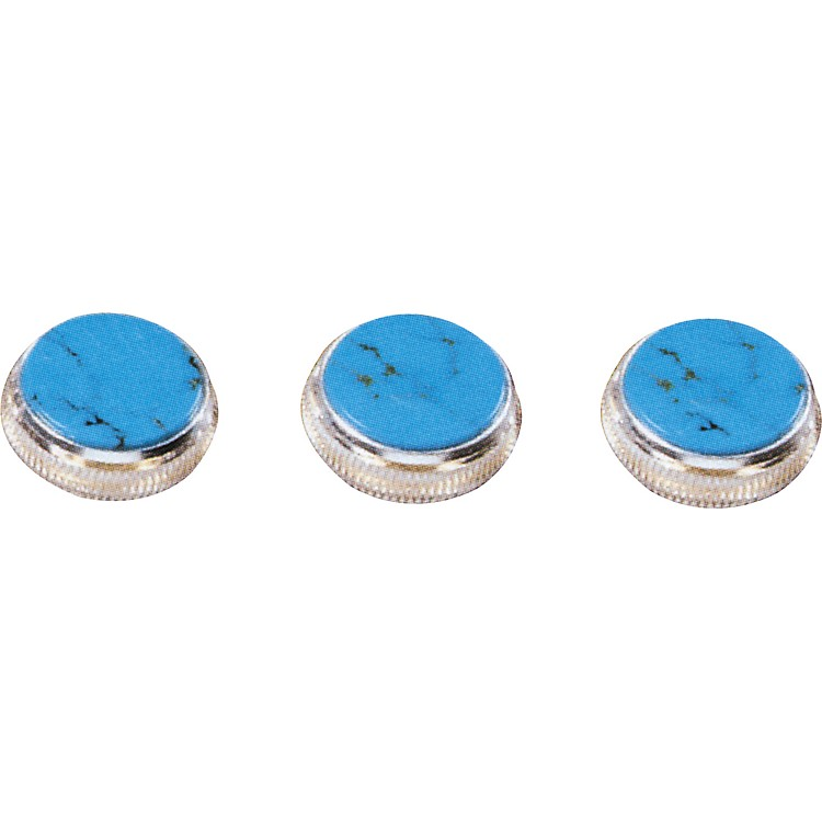 Bach Turquoise Trumpet Finger Buttons 3-Pack Nickel