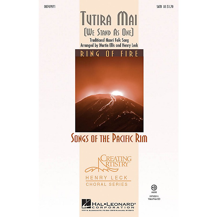 Hal Leonard Tutira Mai (We Stand As One) SATB