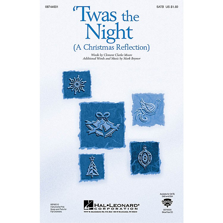 Hal Leonard Twas the Night (A Christmas Reflection) (from The Christmas Suite) ShowTrax CD Composed by Mark Brymer