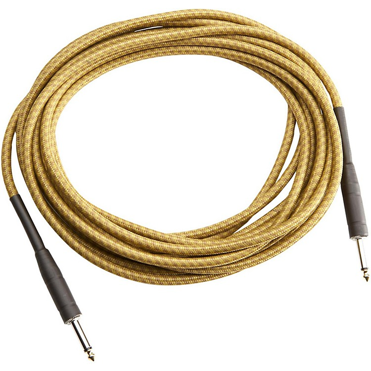 Musician's Gear Tweed 1/4 In. Straight-Straight Instrument Cable Gold 20 ft.