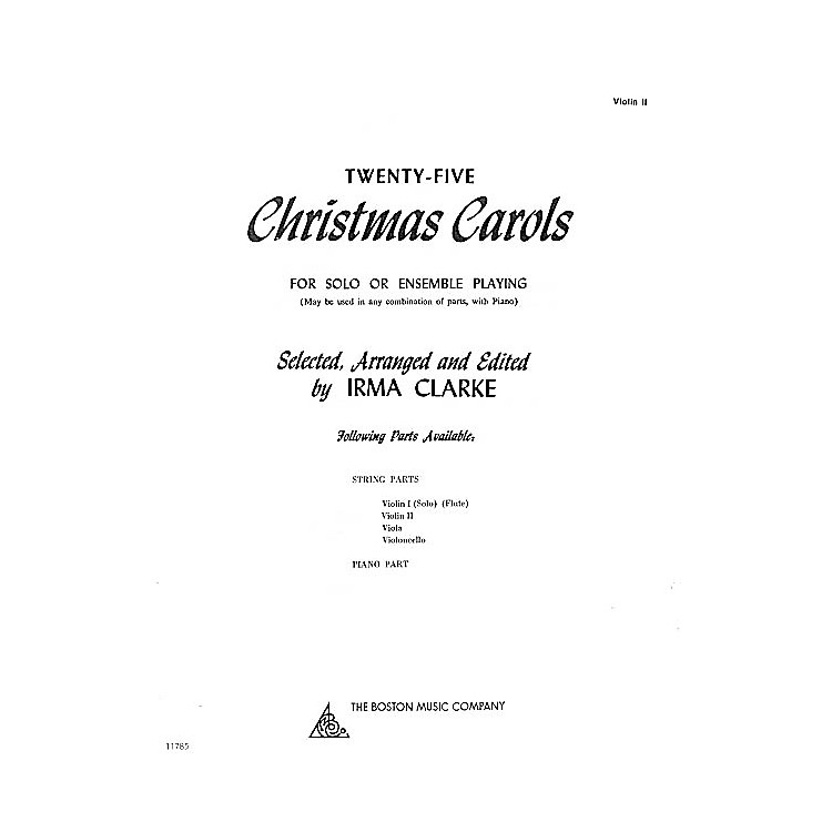 Music Sales Twenty-Five Christmas Carols - Violin II (for Solo or Ensemble Playing) Music Sales America Series