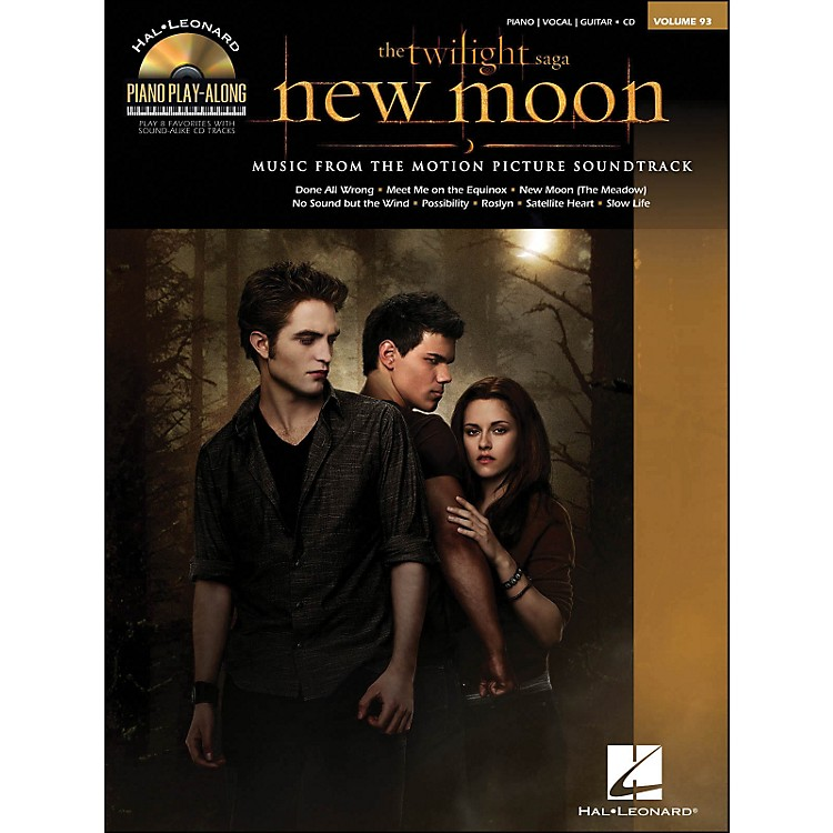 Hal LeonardTwilight: New Moon Music From The Soundtrack Book/CD Piano Play-Along Volume 93 arranged for piano, vocal, and guitar (P/V/G)
