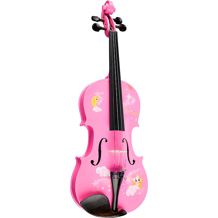 Rozanna's ViolinsTwinkle Star Pink Glitter Series Violin Outfit4/4